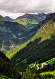 Silvretta Mountain Pss, Austria; Royalty Free Stock Image