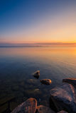View of Simcoe lake during sunrise Royalty Free Stock Image