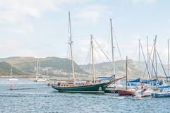 View from Simons Town harbor Stock Image