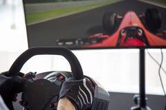 Simulator racing game Royalty Free Stock Image