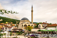 View at the Sinan Pasha mosque in Prizren Stock Photo