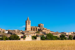 View on Sineu Mallorca. View on Sineu, a village in central Mallorca, Balearic Islands, Spain royalty free stock photography