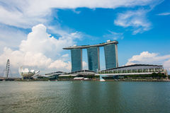 The view of singapore during bright day Royalty Free Stock Photos