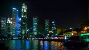 View of the Singapore business center and the river Royalty Free Stock Image