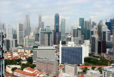 View of the Singapore city from the Skybridge Stock Image