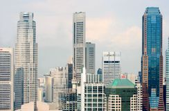 View of the Singapore city from the Skybridge Royalty Free Stock Photos