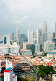 View of the Singapore city from the Skybridge Royalty Free Stock Photo