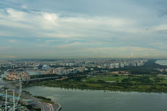 View of Singapore city skyline Royalty Free Stock Photos