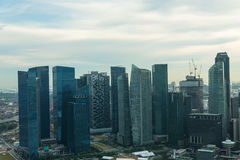 View of Singapore city skyline Royalty Free Stock Image