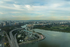 View of Singapore city skyline Royalty Free Stock Photography