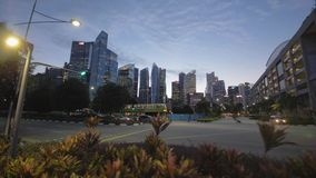 View on a Singapore from crossroad. Beatiful view on a Singapore from crossroad stock footage
