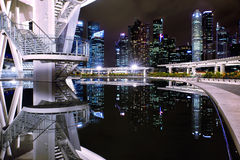 View on Singapore downtown from Art Science Museum Royalty Free Stock Photos