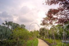 View of the Singapore Flyer Royalty Free Stock Images