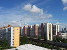 View of Singapore heartland with transportation and other facilities. View of Singapore heartland with transportation and other living facilities. In Singapore Stock Photography