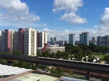 View of Singapore heartland with transportation and other facilities. View of Singapore heartland with transportation and other living facilities. In Singapore Royalty Free Stock Photography