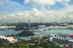 View of Singapore from the height of Heaven tower Sentosa island Stock Photography