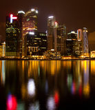A view of Singapore in the night Royalty Free Stock Photo