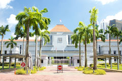 View of Singapore Parliament building. Singapore - Jul 4, 2015. View of Singapore Parliament building. Singapore gained independence as the Republic of Singapore Stock Photography