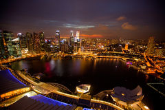 A view of Singapore from roof Marina Bay hotel Royalty Free Stock Photography