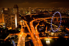A view of Singapore from roof Marina Bay hotel Royalty Free Stock Images