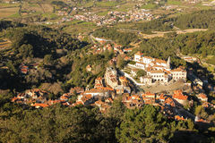 View of Sintra and the National Palace. Sintra. Portugal Stock Image