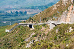 View of Sir Lowreys Pass near Somerset West, South Africa Royalty Free Stock Images