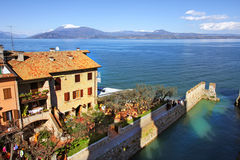 View on Sirmione and Lake Garda. Royalty Free Stock Images