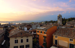 View of Sirmione with Lake Garda Royalty Free Stock Images