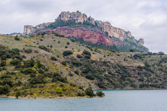 View of Siurana Dam Lake, Spain Royalty Free Stock Photos