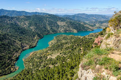 View of Siurana Dam Lake, Spain Stock Photos