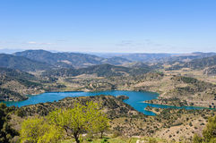 View of Siurana Dam Lake, Spain Royalty Free Stock Image