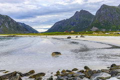 View of Skagsanden Beach, Norway Stock Images
