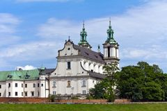 View on skalka church  in krakow in poland Royalty Free Stock Images