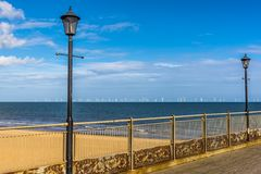 The view from Skegness pier, UK out to sea Stock Photos