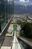 View from ski-jump. The skiers view in summer from the ski-jump in Innsbruck Royalty Free Stock Photos