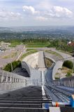 View from ski jumps tower Stock Images