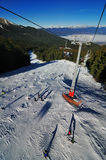 View from ski lift in Bansko Stock Photos