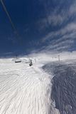 View from ski lift Royalty Free Stock Image