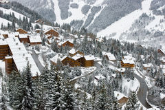 A view of the ski resort Royalty Free Stock Images