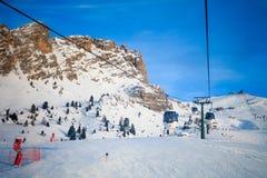 View of ski resort in Alps Stock Image