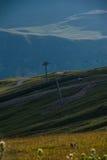 View on ski resort Gudauri in summer. The Republic Of Georgia Stock Photos