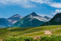 View on ski resort Gudauri in summer. The Republic Of Georgia Royalty Free Stock Photos