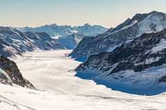View of the ski resort Jungfrau Wengen in Switzerland Stock Images