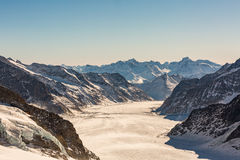 View of the ski resort Jungfrau Wengen in Switzerland Stock Photography