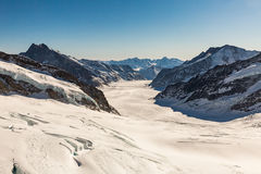 View of the ski resort Jungfrau Wengen in Switzerland Royalty Free Stock Photo