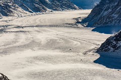 View of the ski resort Jungfrau Wengen in Switzerland Royalty Free Stock Photography