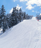 View on ski route in Sarikamis Royalty Free Stock Images