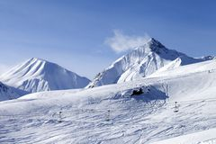 View on ski slope Stock Image