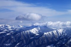 View from ski slope Royalty Free Stock Images