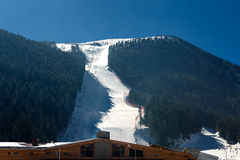 View of the ski slope and chair lifts Royalty Free Stock Images